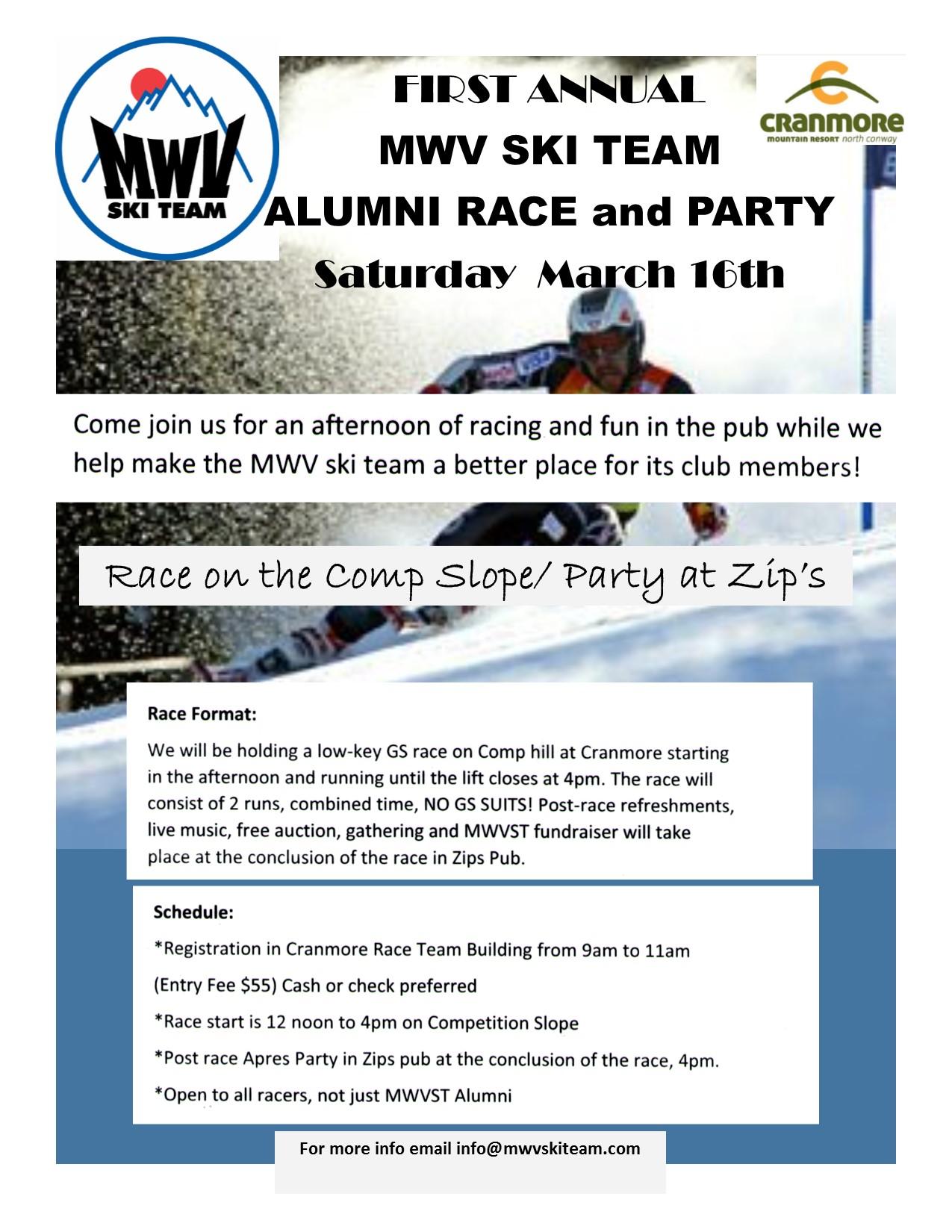 MWVST Alumni Race and Party - MWV Ski Team